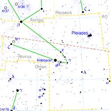 Taurus constellation map
