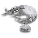 Chrome Flames Hood Ornament