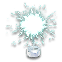 Cyan Sparkler Hood Ornament