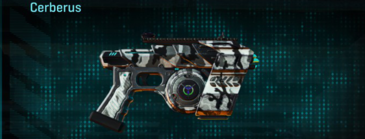 Forest greyscale pistol cerberus