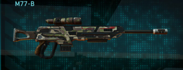 Woodland sniper rifle m77-b