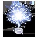 Blue Sparkler Hood Ornament