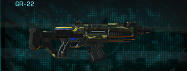 Temperate forest assault rifle gr-22