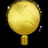 Gold Smiley Face Dead Hood Ornament
