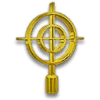 Gold Crosshair Hood Ornament