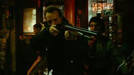 Hague with Mossberg 500 Bantam in Bone Shack