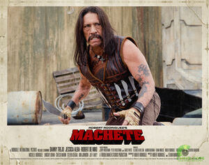 Machete lobby card.