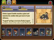 Rodeo Legend Zombie Almanac