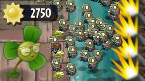 Plants vs Zombies 2 - Only Blover and Springbean in Last Stand Pirate Seas Day 22