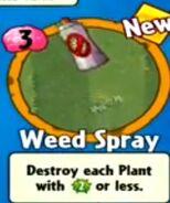 Receiving Weed Spray