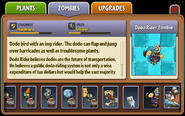 Dodo Rider Zombie Almanac Entry