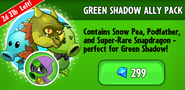 Green Shadow Ally Pack Promotion