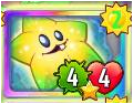 Shooting Starfruit's card cost less