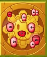 Bombegranate Seeds Gold Tile