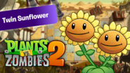 PvZ2 TwinSunflower WallpaperbyKh07