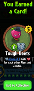 Earning Tough Beets
