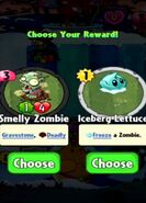 Choice between Smelly Zombie and Iceberg Lettuce