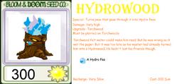 Hydro-Wood