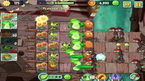 Plants vs Zombies 2 Pirate Seas Day 4 Walkthrough