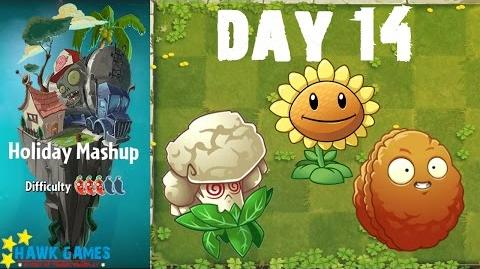 Plants vs. Zombies 2 - Holiday Mashup World by AB Fan 1000 - Day 14 (Lock and Loaded)