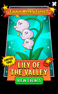 Lily of the Valley in Weekly Events Ad
