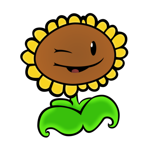 File:Plants vs zombies sunflower vector by 2bitmarksman-d6ly460.png