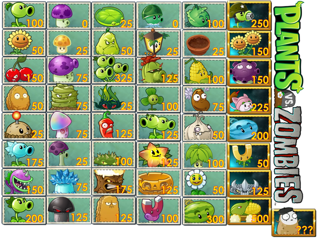 File:New design of PvZ 1 plants set!.png