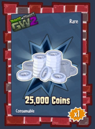 25 000 coin sticker