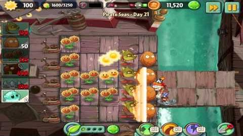Plants vs Zombies 2 Pirate Seas Day 21 Walkthrough