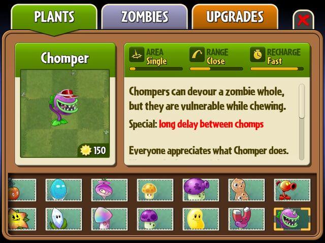 File:I got Chomper and Fire Pea back on iOS ^ ^.jpg