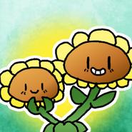Twinsunflowersunshroomicon