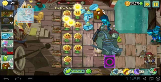 File:Dead Man's Booty Level 071 battle of Hypno-Shroom Plants vs Zombies 2-19-47-52-.JPG