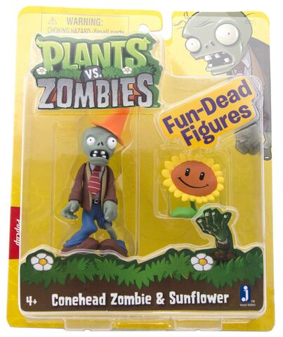 File:Conehead Zombie & Sunflower figures.jpg
