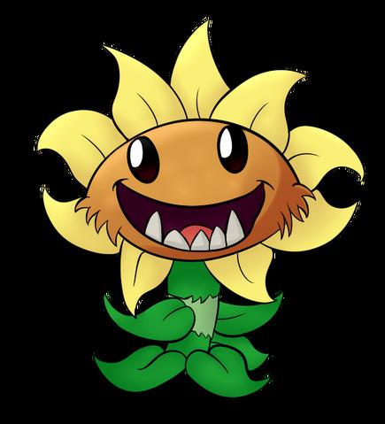 File:Primal sunflower fanart.png