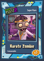 KarateZombieSticker