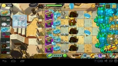 Pyramid of Doom Level 1001 Impossible Level with Gargantuar PvZ2 Endless Zone