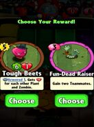 Choice between Tough Beets and Fun-Dead Rasier