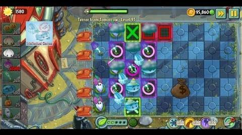 Terror From Tomorrow Level 93 Lightning Reed Boost Power Tiles Plants vs Zombies 2 Endless GamePlay