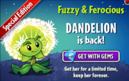 Dandelion July Ad