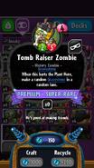 Tomb Raiser Zombie statistics