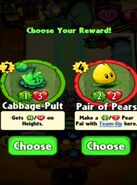 Choice between Cabbage-Pult and Pair of Pears