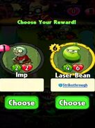Choice between Imp and Laser Bean