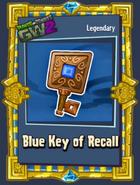 Blue key of recall sticker
