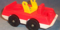 2-Seat Fire Truck with Yellow Ladder
