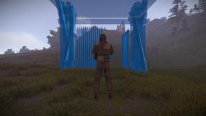 High External Wooden Gate Placement