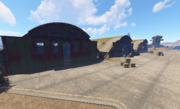 Airfield hangars view