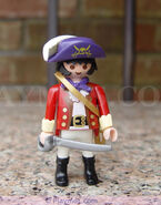 Pirate Figures 30 13 1000 Pirate admiral of cannon boat