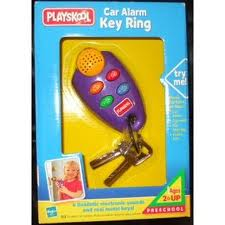 Purple Car Alarm Key Ring