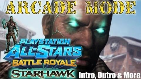 Playstation All-Stars Battle Royale Starhawk's Emmett Graves Arcade Mode