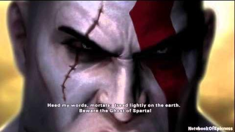 Playstation All-Stars Battle Royale Kratos Intro Rival Ending Cutscene